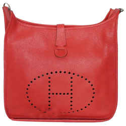 Hermes Evelyne Togo 3 Pm 29cm 2011 Red Leather Shoulder Bag