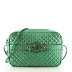Trapuntata Camera Bag Quilted Laminated Leather Small