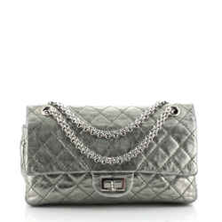 Reissue 2.55 Flap Bag Quilted Metallic Aged Calfskin 225