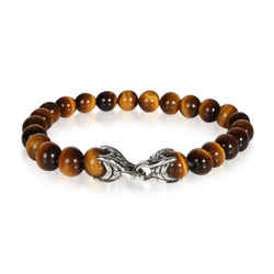 David Yurman Tiger Eye Spiritual Beads Bracelet in  Sterling Silver
