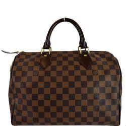 LOUIS VUITTON Speedy 30 Damier Ebene Satchel Handbag Brown
