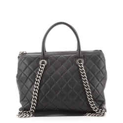 Boy Chained Tote Quilted Calfskin Medium