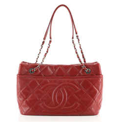 Timeless CC Soft Tote Quilted Caviar Medium