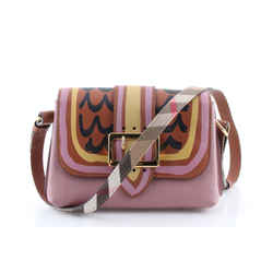 Burberry Buckle Trompe L'oeil Leather Crossbody Bag One Size Authenticity Guaranteed