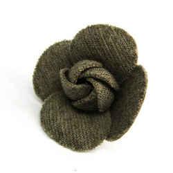 Chanel Camellia Cotton Corsage Beige,Gray BF524748
