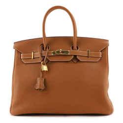 Birkin Handbag Gold Togo with Gold Hardware 35
