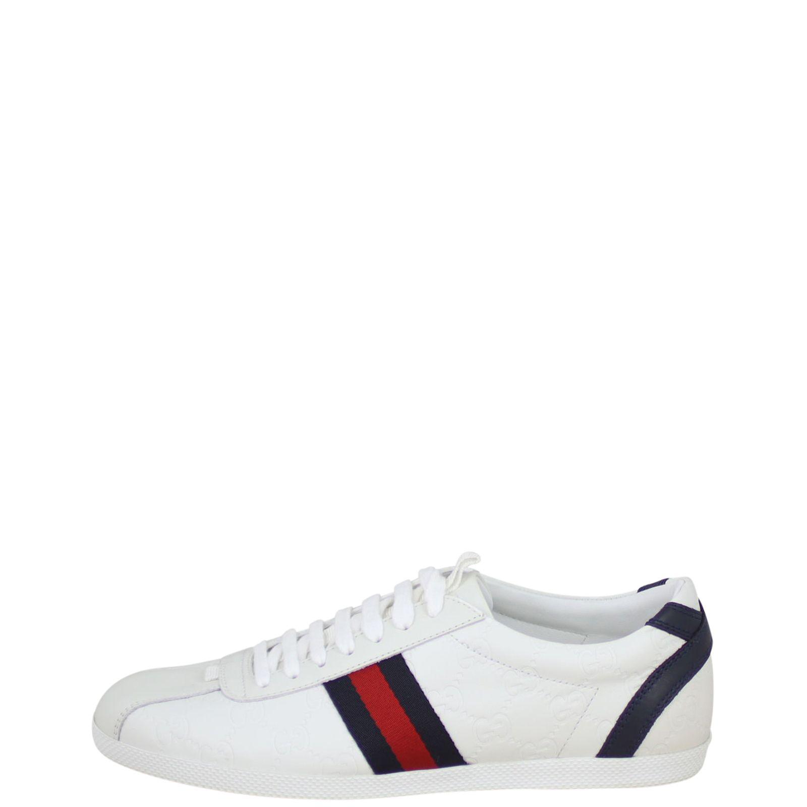 Gucci Guccissima Leather Web Sneakers