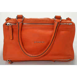Givenchy Medium Pandora Bag in Grained Leather - Orange