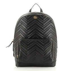 GG Marmont Pocket Backpack Matelasse Leather Medium