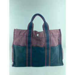 Hermes Fourre Tout GM Burgundy Navy Bicolor Tote 12her623
