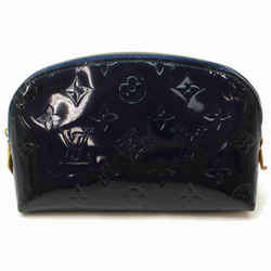 Louis Vuitton Vernis Cosmetic Pouch Navy BLue Make Up Case Demi Ronde 860960