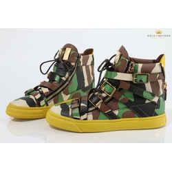 Giuseppe Zanotti London Farwest Camo Sneakers  Size 40