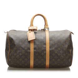 Brown Louis Vuitton Monogram Keepall 45 Bag