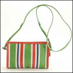 Rdc11749 Authentic Balenciaga Multicolor Bazar Striped Small Crossbody Bag
