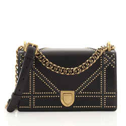 Diorama Flap Bag Studded Leather Small