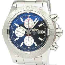 Polished BREITLING Super Avenger ll Chronograph Steel Mens Watch A13371 BF517612