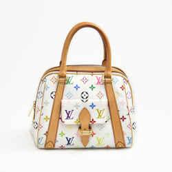 Louis Vuitton Priscilla White Multicolor Monogram Canvas Handbag Lt781