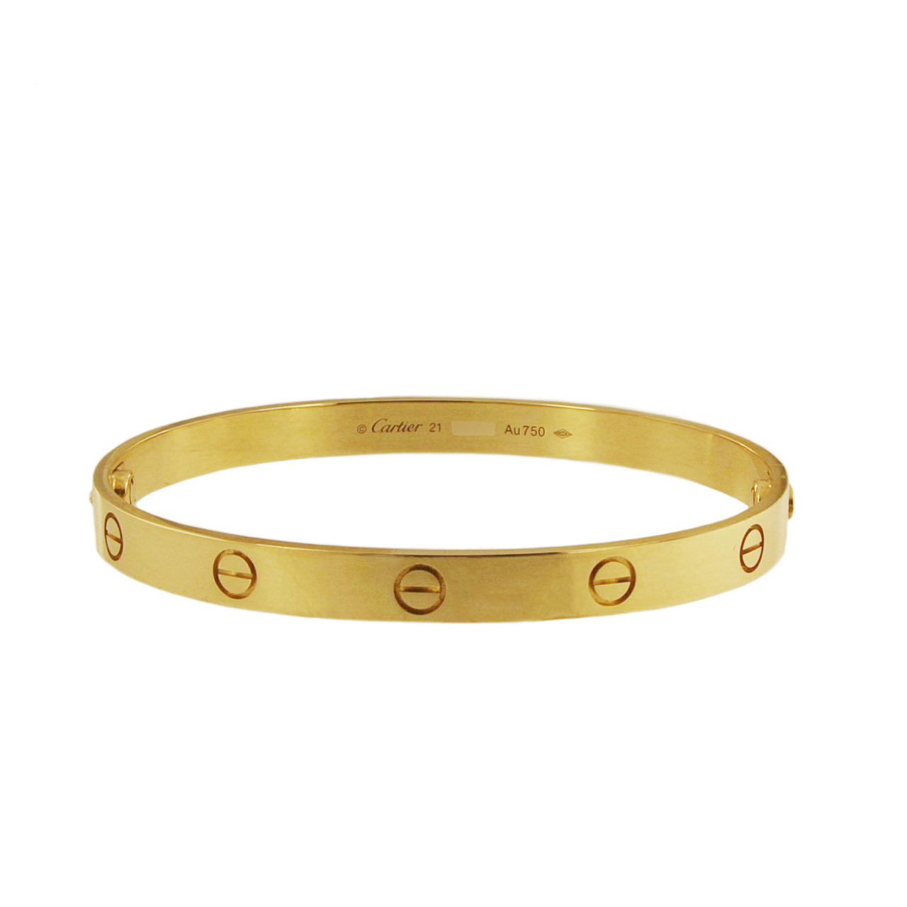 Cartier Love Bracelet Yellow Gold Size