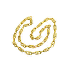 Authentic Celine Logo Link Chain Necklace Gp Emblem Vintage Signature Jewelry