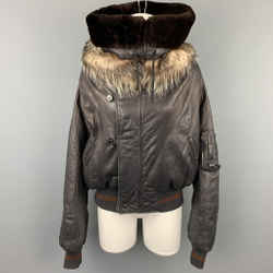 JEAN PAUL GAULTIER Femme Size S Black Leather Sheep Skin Turtleneck Collar Jacket
