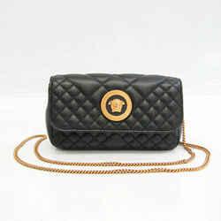 Versace Medusa Quilting Women's Leather Shoulder Bag Black BF532078