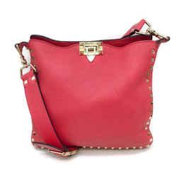 Valentino Rockstud Pink Leather Cross Body Bag