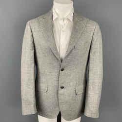 BRUNELLO CUCINELLI Size 38 Grey Wool Blend Peak Lapel Sport Coat