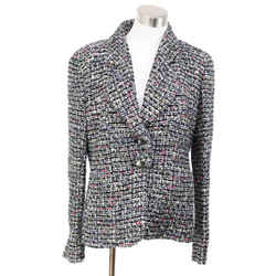 Chanel Multicolor Tweed Jacket Size 12