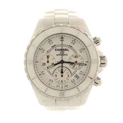 J12 Chronograph Automatic Watch Ceramic and Stainless Steel with Diamond Markers 41