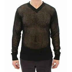 Dolce & Gabbana Dark Green Runway Netz Pullover Netted Men's Sweater