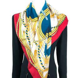 Grande Tenue Hermes Scarf by Henri d'Origny 90 cm Silk Twill