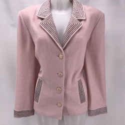 St John Pink Knit Blazer 16