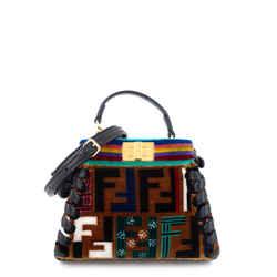 Peekaboo Micro Whipstitch Zucca Velvet Bag