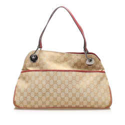 Beige Gucci GG Canvas Eclipse Shoulder Bag