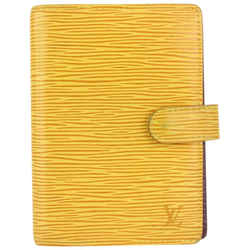 Louis Vuitton Yellow Epi Leather Small Ring Agenda PM Diary Cover 145lv729