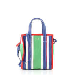 Bazar Convertible Tote Striped Leather XS