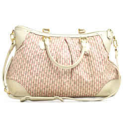 Louis Vuitton Marina GM Monogram Mini Lin Croisette Pink Shoulder Bag LU334