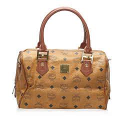 Vintage Authentic MCM Brown Calf Leather Visetos Satchel Germany