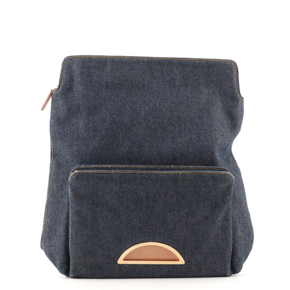Vintage Zip Top Backpack Denim