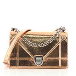 Diorama Flap Bag Crackled Deerskin Medium