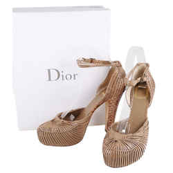 Christian Dior Python Ankle Strap Platforms Beige Size 9 Authenticity Guaranteed