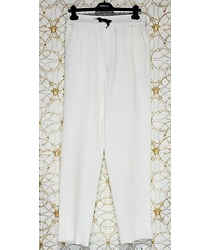 S/s 2015 Look #18 Brand New Versace White Viscose Pants 32 - 48 (m)