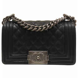 Chanel Small Le Boy Black Caviar