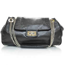 Chanel Reissue Perforated Drill Metallic Accordion Gunmetal Flap Satchel Bag