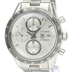 Polished TAG HEUER Carrera Chronograph Steel Automatic Watch CV2011 BF535310