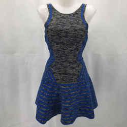 Parker Blue Sleeveless Dress XS