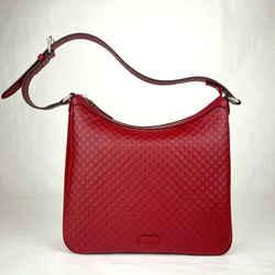 Gucci Red Micro-guccissima Leather Hobo Shoulder Handbag 510292