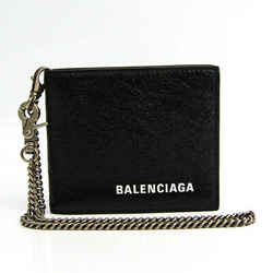 Balenciaga Chain Wallet 504933 Men's Leather Bill Wallet (bi-fold) Blac BF519707