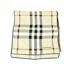 "BURBERRY: Beige, ""Nova Check"" & Logo 100% Silk Scarf  45"" x 10"" (so)"