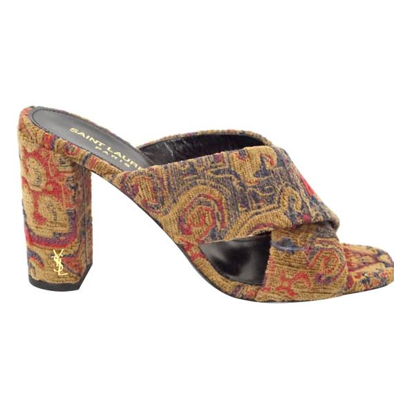 Yves Saint Laurent Loulou Tapestry Mules Nib Ysl
